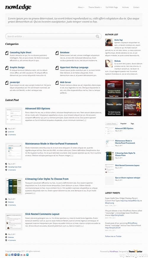 NowLedge Knowledge Base WordPress Theme