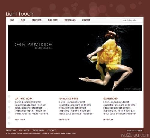 light touch business wordpress theme