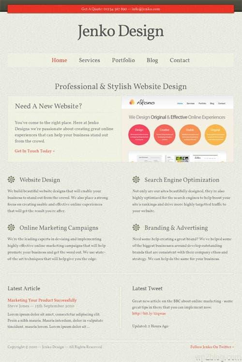 jenko wordpress theme