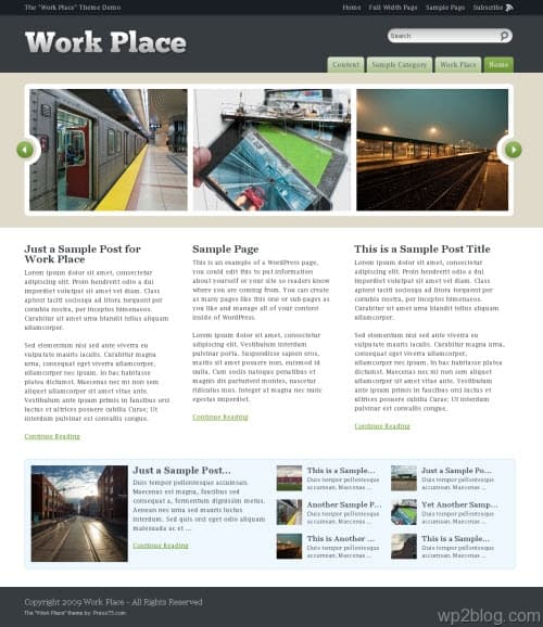 Work Place Premium WordPress Theme