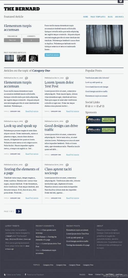 The Bernard Premium WordPress Theme