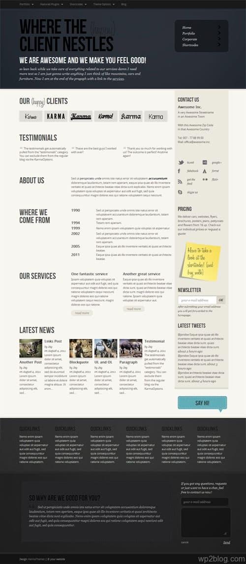 Gladica Premium WordPress Theme