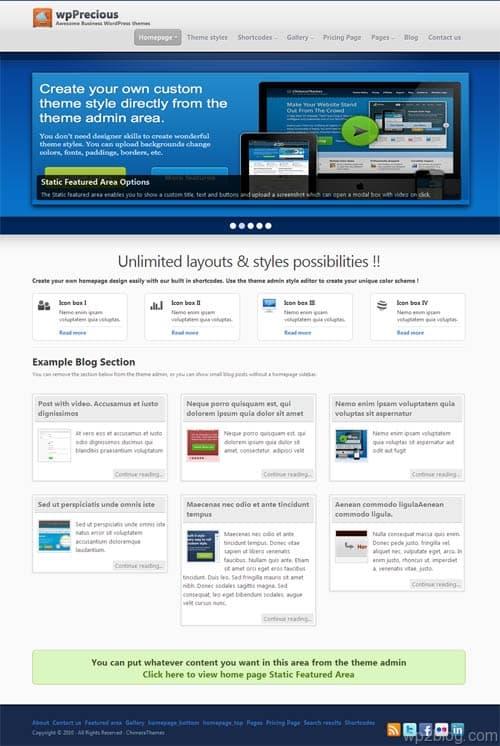WP Precious Premium WordPress Theme