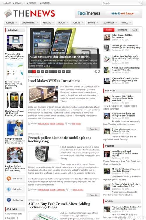 The News Premium WordPress Theme