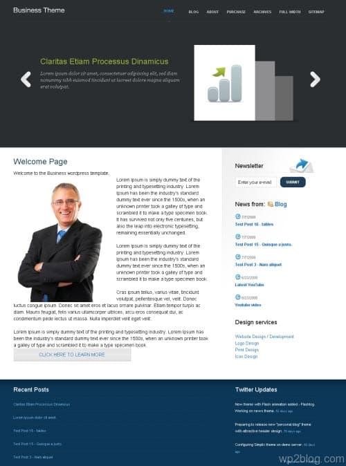 nattywp business wordpress theme