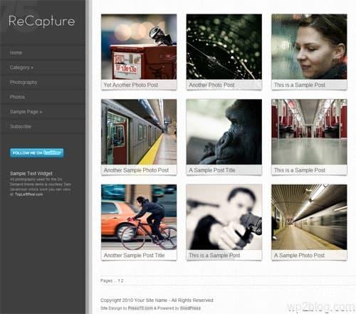 ReCapture Photography Premium WordPress Theme