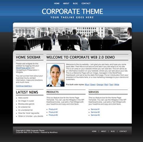 Corporate Theme Blue