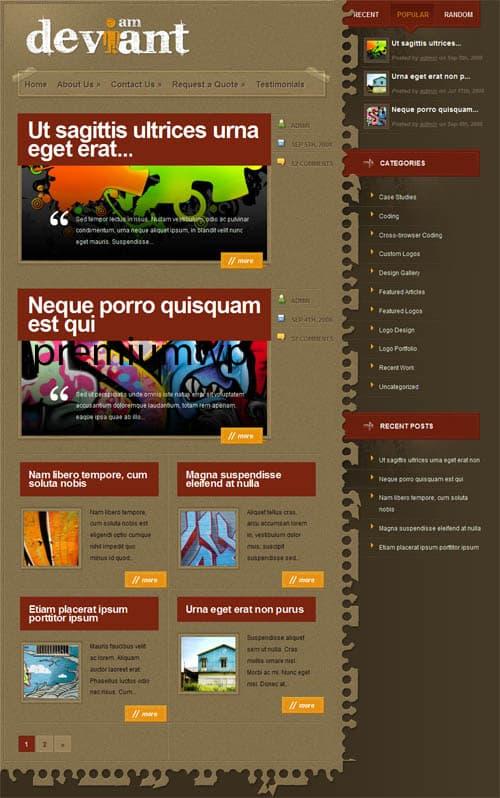 deviant-wordpress-theme