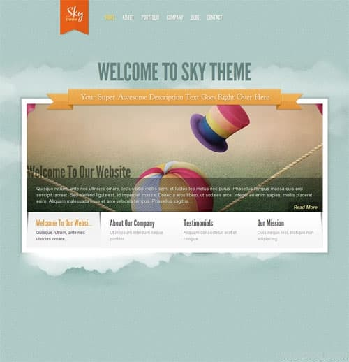 Sky Premium WordPress Theme