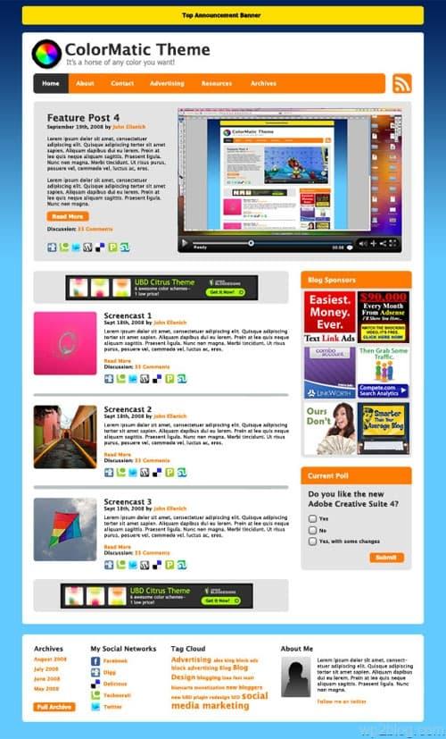 ColorMatic Premium WordPress Theme