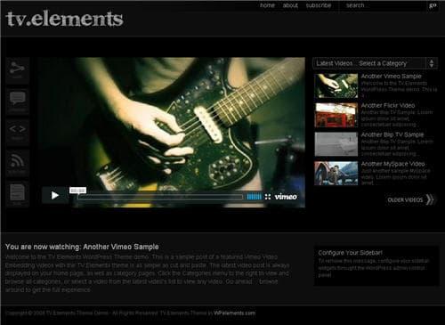 TV Elements WordPress Theme