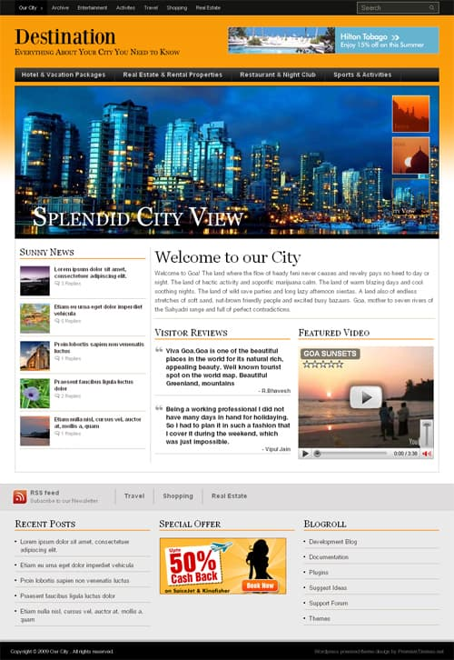 Destination-wordpress-theme