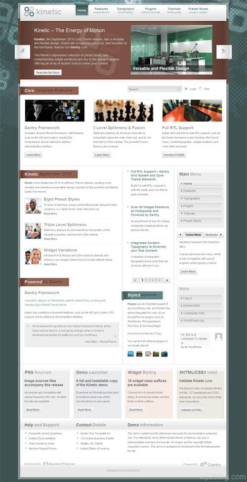 Kinetic Premium WordPress Theme