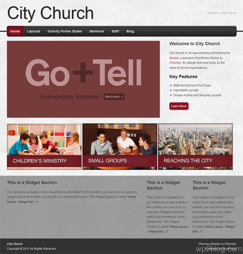 City Church WordPress Theme