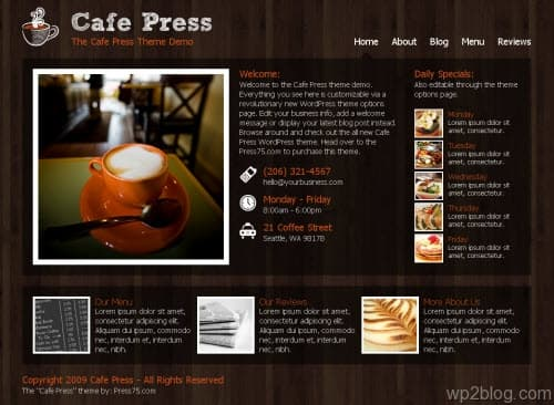 cafe press wordpress theme