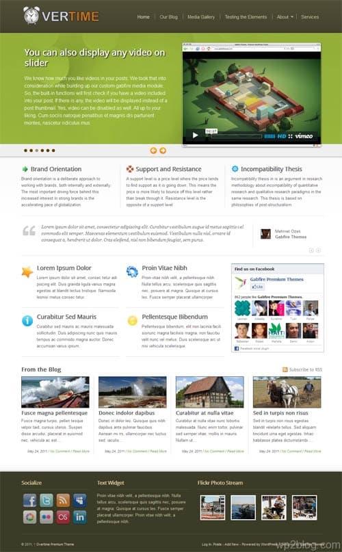 OverTime Premium WordPress Theme