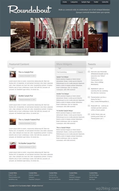 Roundabout Premium WordPress Theme