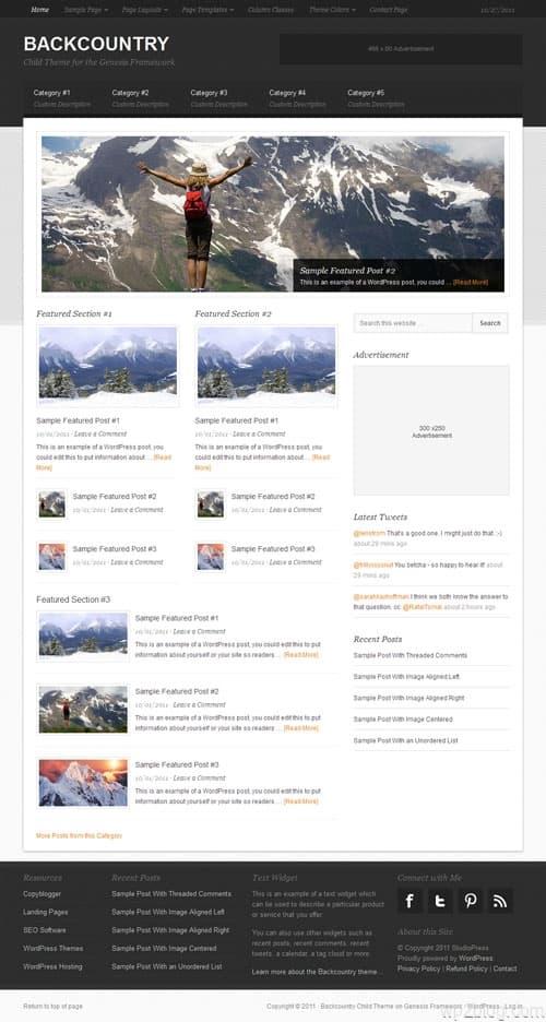 Backcountry Premium WordPress Theme