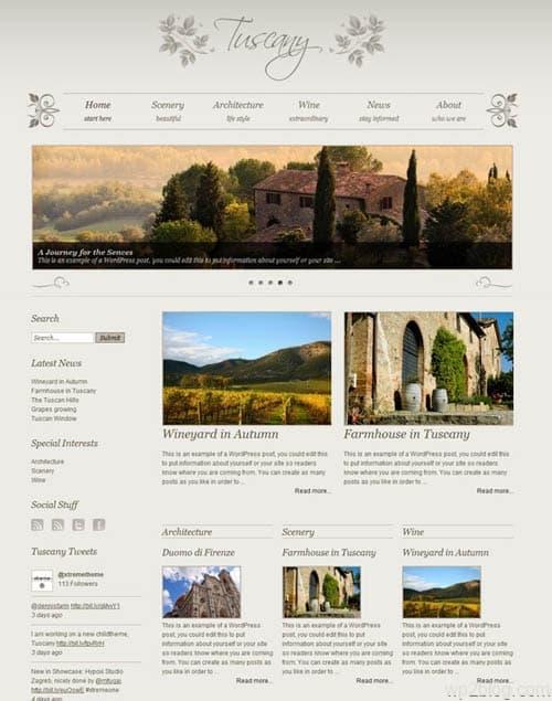 tuscany child theme