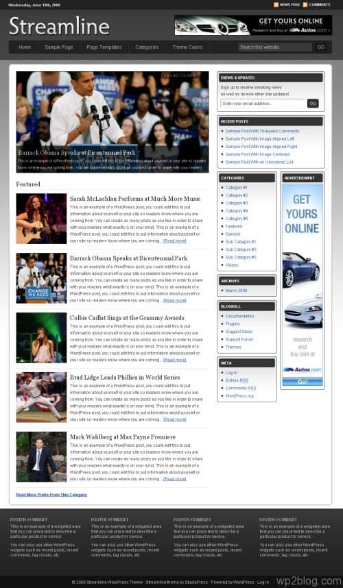 streamline studiopress wordpress theme