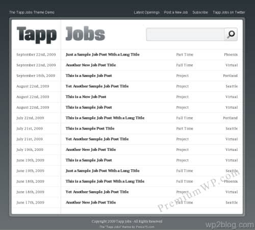 Tapp Jobs Job Board WordPress Theme