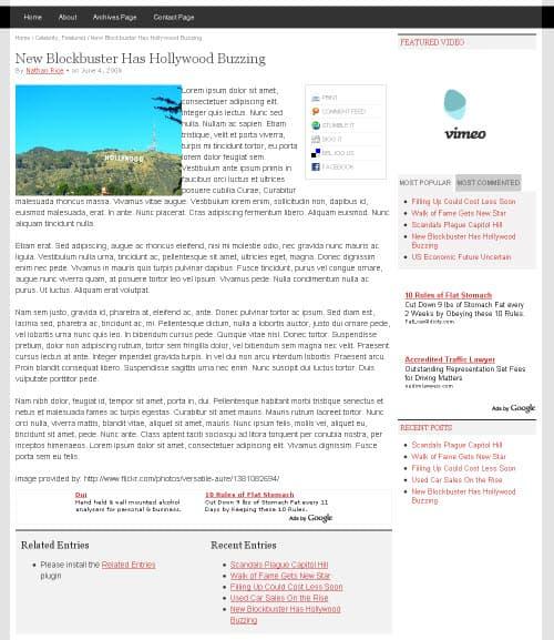 Proximity Theme Post Page