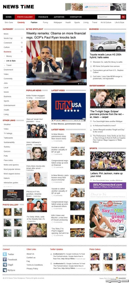 News Time Premium WordPress Theme