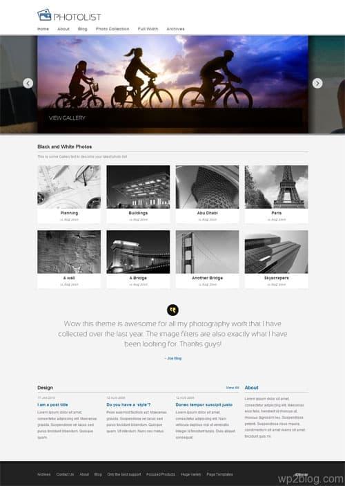 photolist wordpress theme