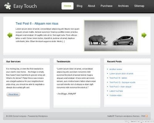 easy touch wordpress theme