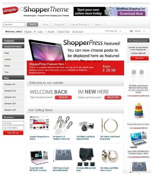 shopperpress wordpress theme
