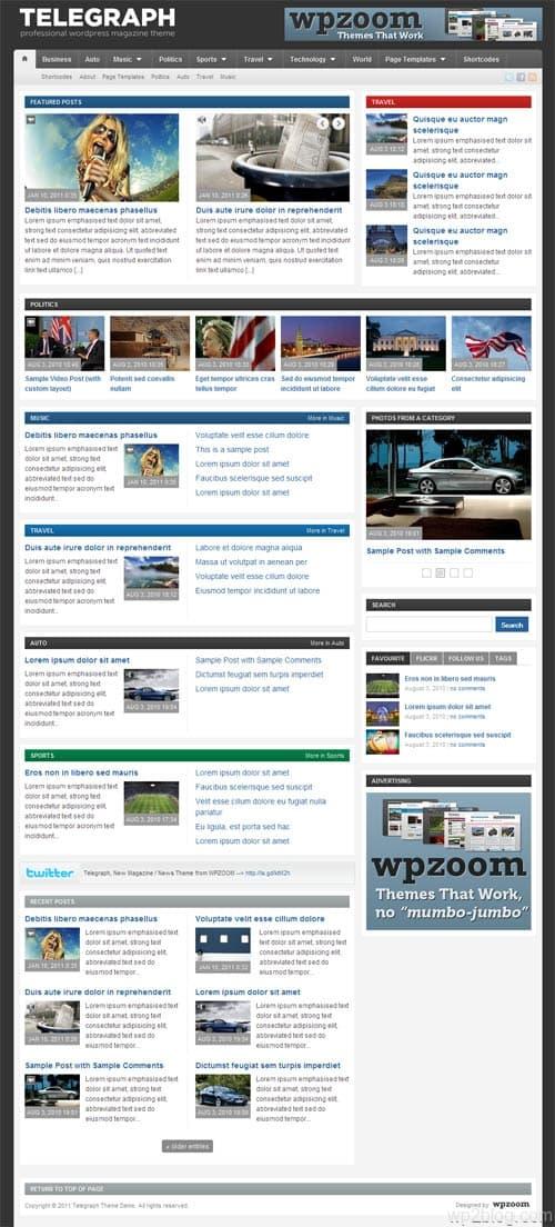 Telegraph Magazine Premium WordPress Theme
