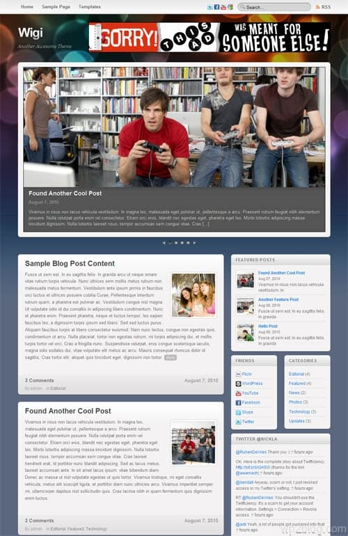 Wigi Blog Premium WordPress Theme