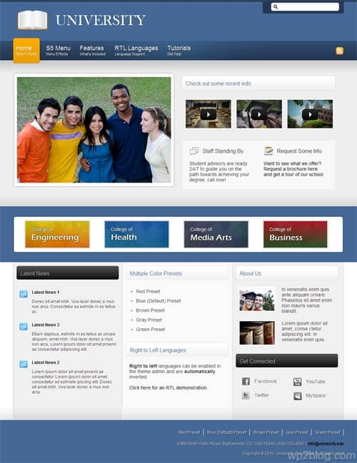 University Premium WordPress Theme