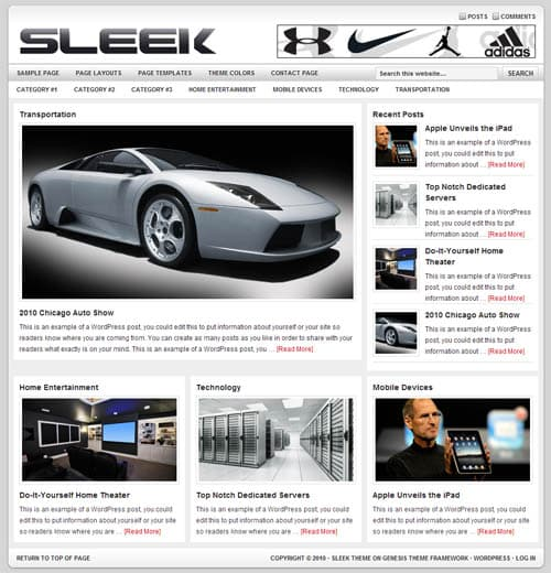 sleek-studiopress-wordpress-theme