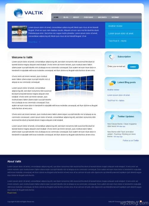 Valtik WordPress Theme