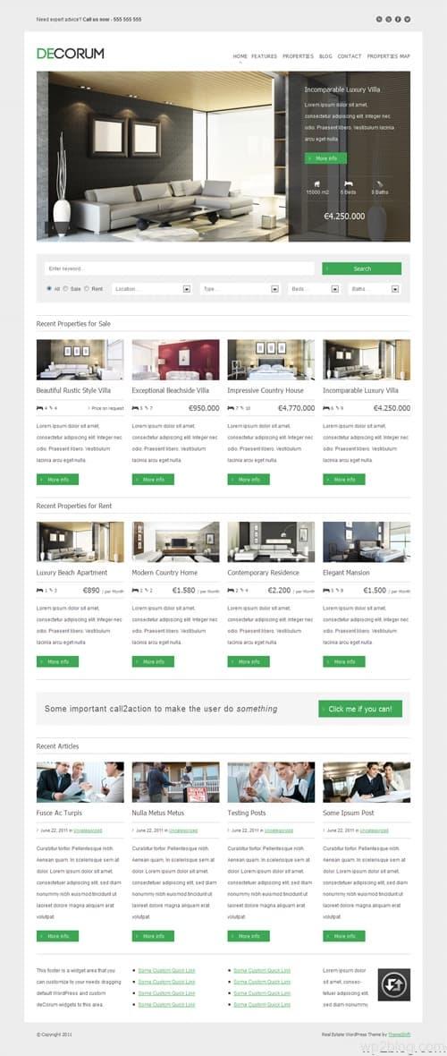 DeCorum WordPress Real Estate Theme