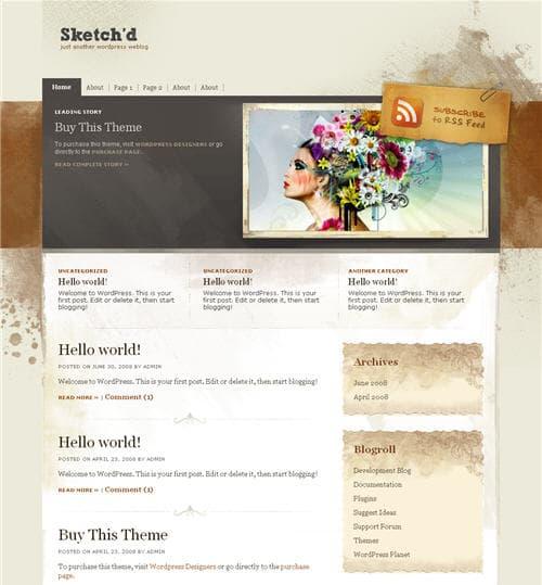 Sketchd wordpress theme
