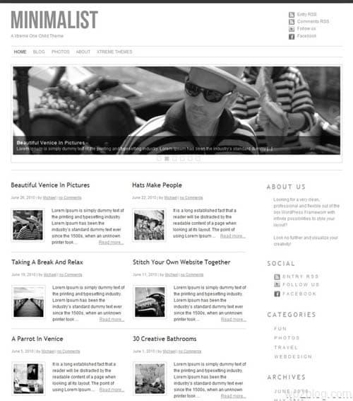 xtreme minimalist theme 03