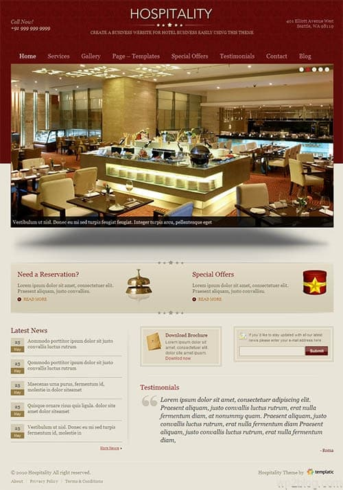 Hospitality Premium WordPress Theme