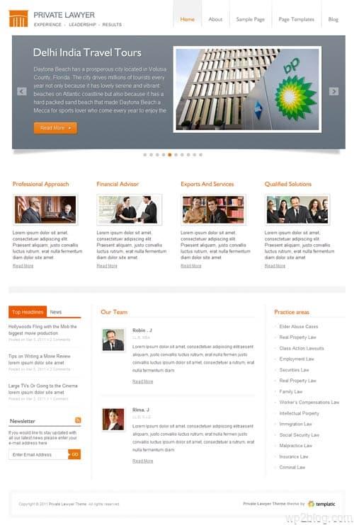 Private Lawyer Business WordPress Theme