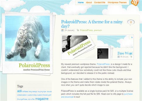 PolaroidPress Theme