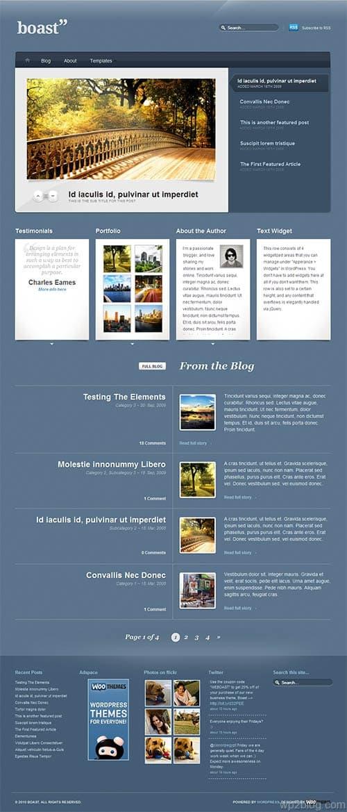 boast business wordpress theme