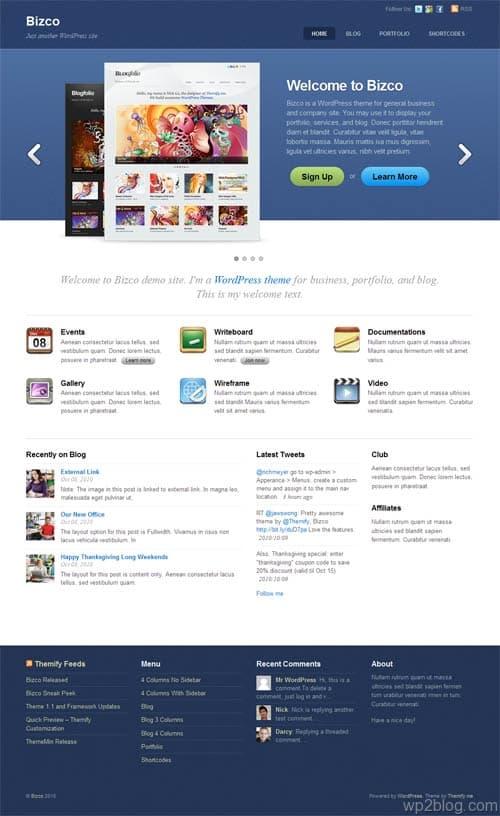 Bizco Business Premium WordPress Theme