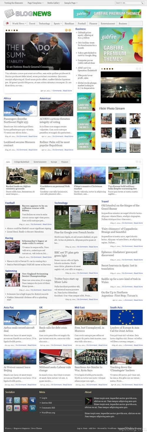 Blog News Premium WordPress Theme
