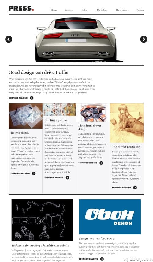 press wordpress theme
