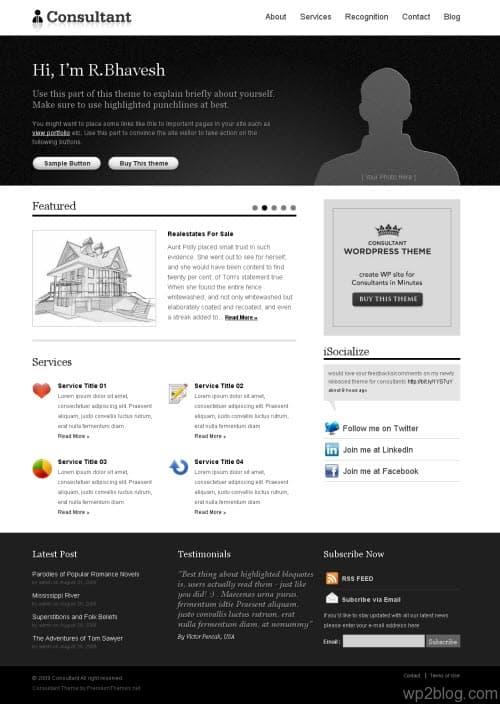Consultant Premium WordPress Theme
