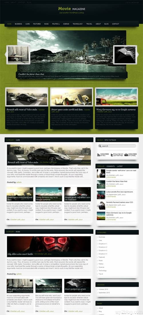 Movie Magazine Premium WordPress Theme