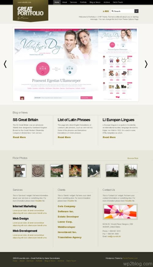 portfolius v3 wordpress theme
