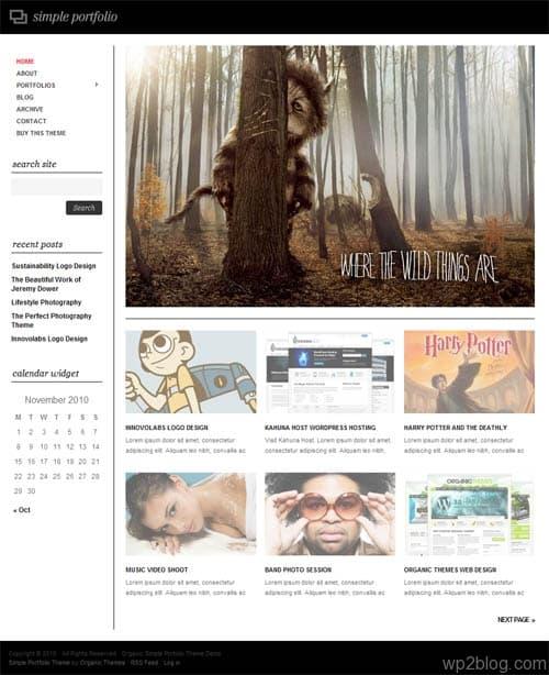 Simple Portfolio Premium WordPress Theme