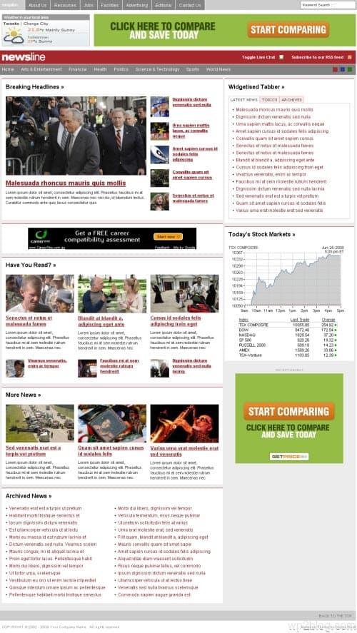 newsline wordpress theme